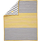 Yellow Stripe Chick Crib Quilt