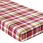 Pink Plaid Crib Fitted Sheet