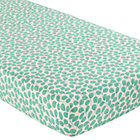 Green Leaf Print Crib Fitted Sheet