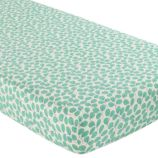 Princess & Pea Crib Fitted Sheet (Green Leaf)