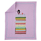 Lavender Multi Princess & Pea Crib Quilt