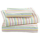 Princess and Pea Stripe Toddler Sheet Set (includes 1 fitted sheet, 1 flat sheet and 1 case)