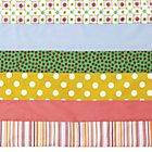 Multi Stripe Multi Color Crib Skirt