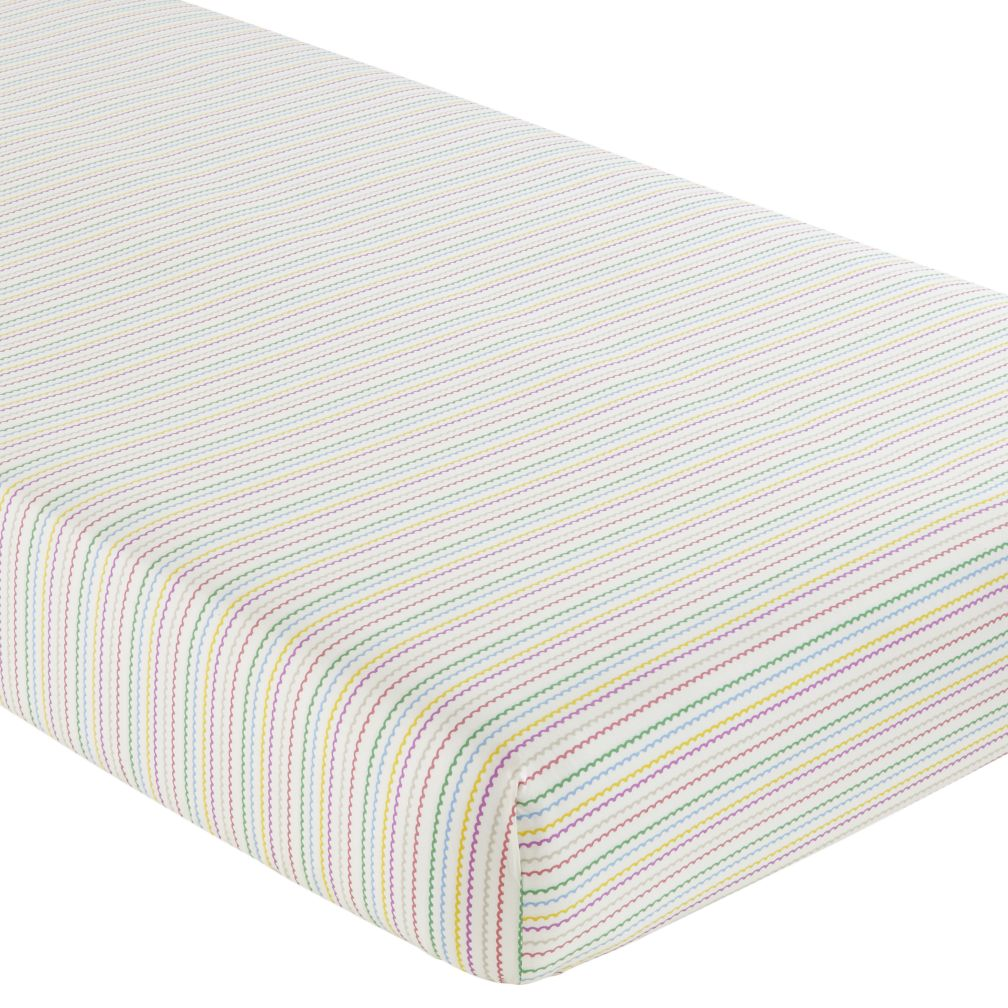 Crib Fitted Sheet (Multi Stripe)