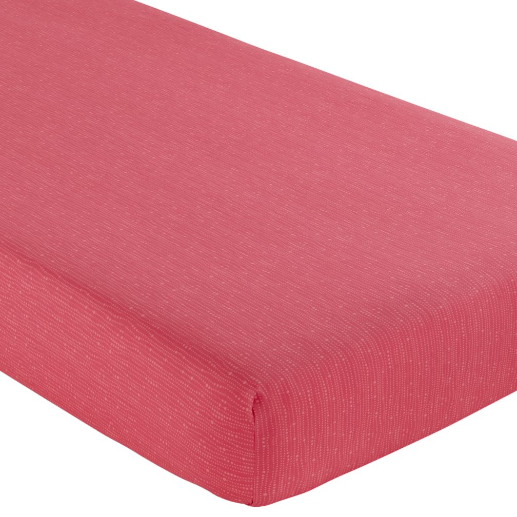 Crib Fitted Sheet (Tropical Pink)