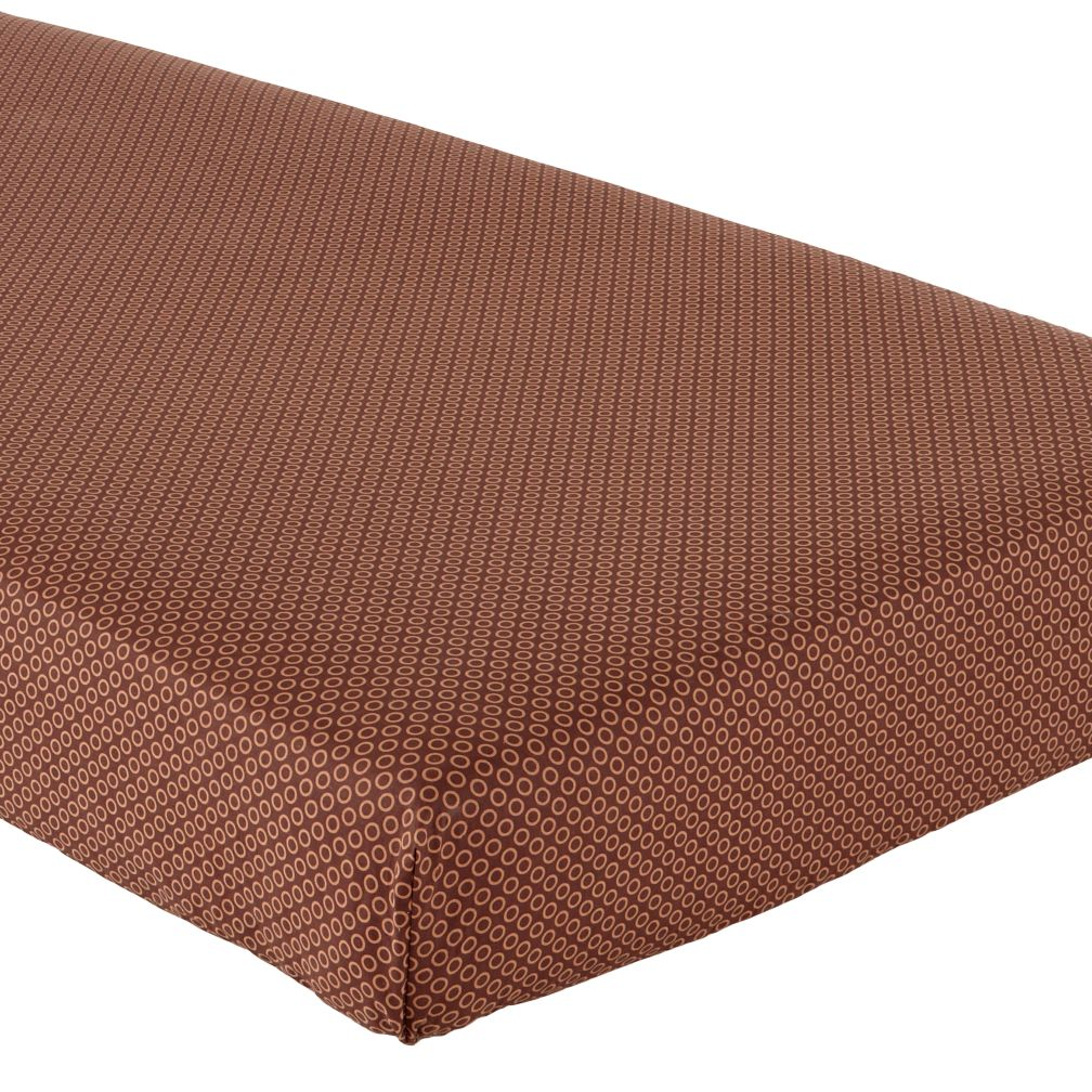 Crib Fitted Sheet (Brown)