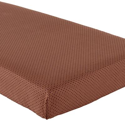 Crib Fitted Sheet (Brown O Print)