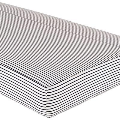 Crib Fitted Sheet (Blue Stripe Sail On Print)