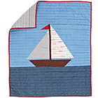 Blue Sail On Crib Quilt