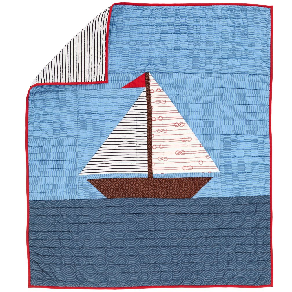 Sail On Crib Quilt
