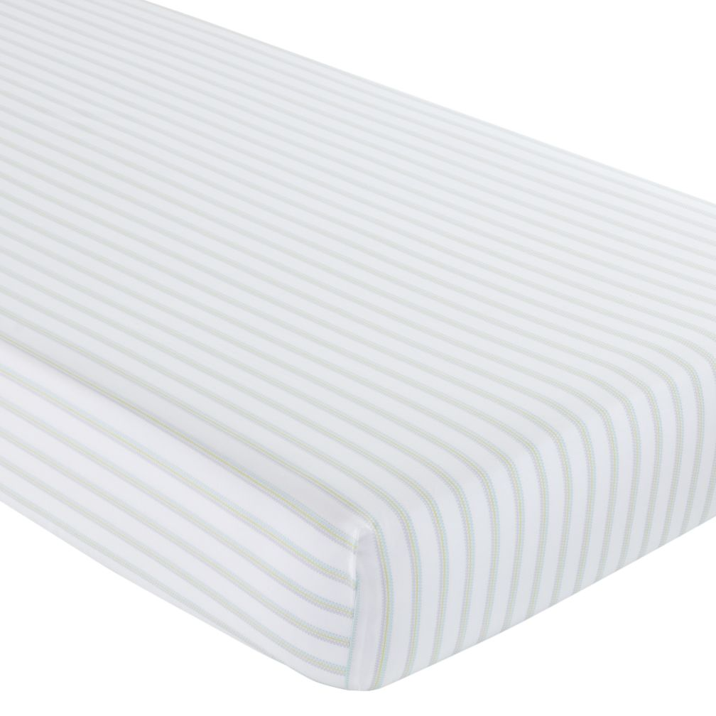 Crib Fitted Sheet (Sherbet Stripes)