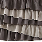 Grey Multi Ruffle Crib Skirt