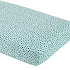 Aqua Dot Fitted Crib Sheet