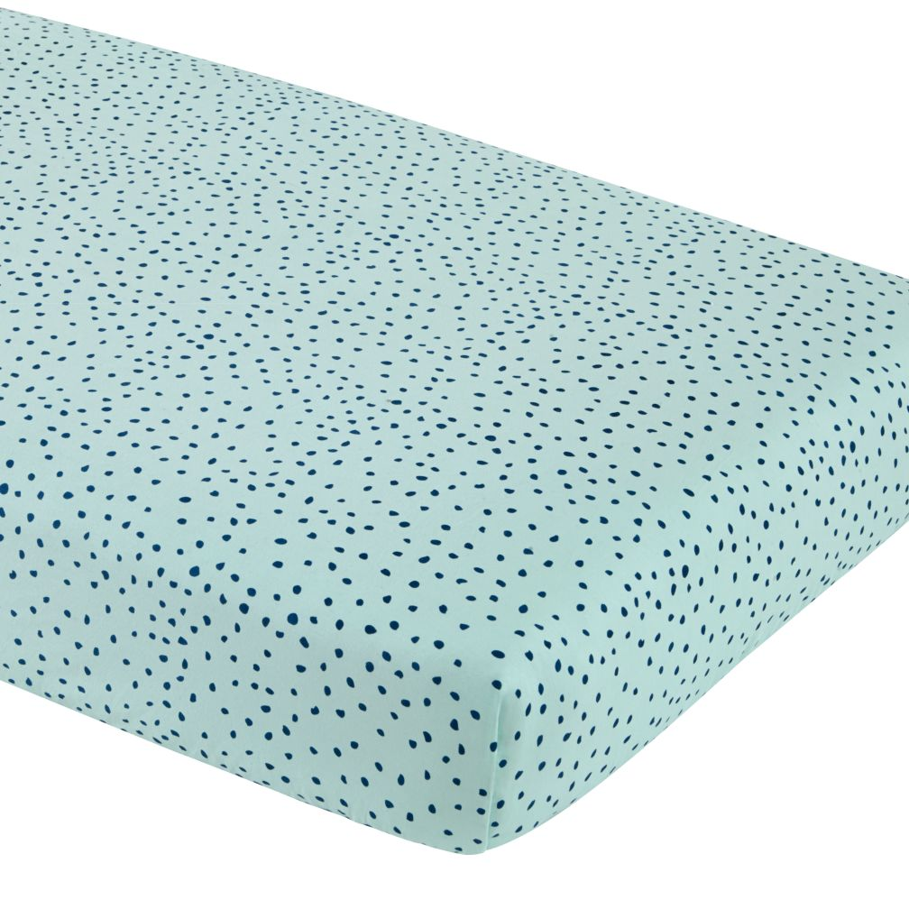 Sleep Tight Fitted Crib Sheet (Aqua Dot)