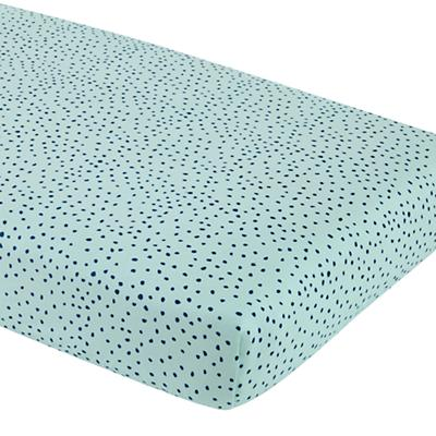 Sleep Tight Crib Fitted Sheet (Aqua Dot)