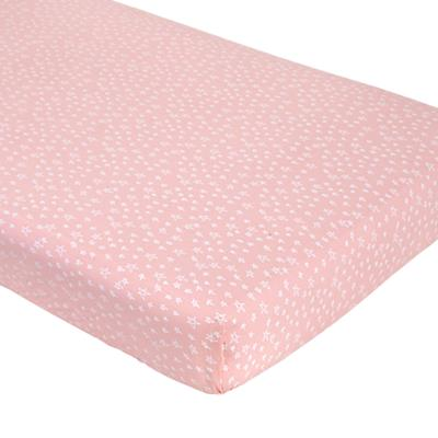 Sleep Tight Crib Fitted Sheet (Pink Star)