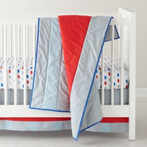 Solid Stripes Crib Bedding