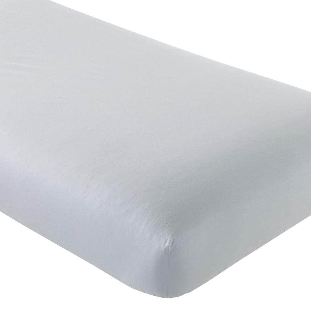 Crib Fitted Sheet (Solid Grey)