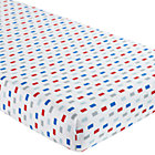 Print Solid Stripes Crib Fitted Sheet