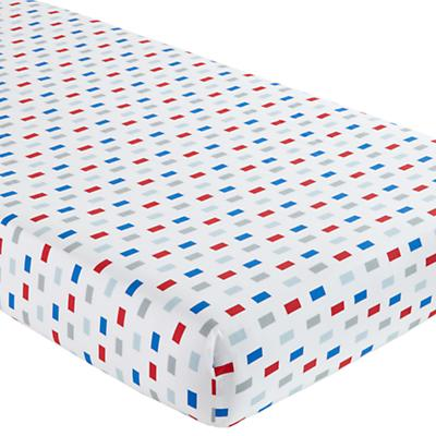 Crib Fitted Sheet (Block Print)
