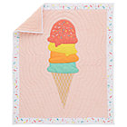 Pink Multi Ice Cream Crib Quilt