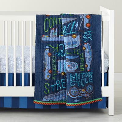 Transit Authority Crib Skirt