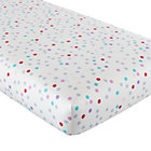 Multi Dot Fitted Crib Sheet