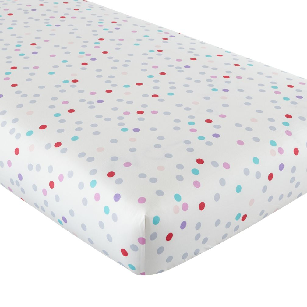 Tulip Festival Fitted Crib Sheet (Dot)
