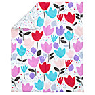 Multi Tulip & Dot Crib Quilt