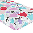 Multi Tulip Crib Fitted Crib Sheet