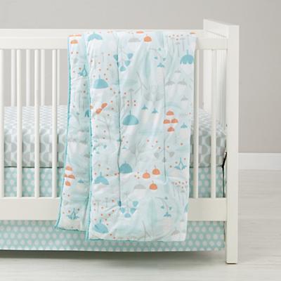 Well Nested Crib Sheet (Blue Acorn)