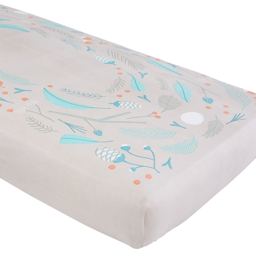 Well Nested Crib Sheet (Blue Nest)