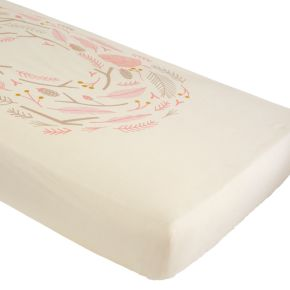 Well Nested Crib Sheet (Pink Nest)