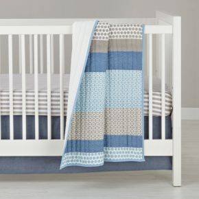 Patterned Print Bedding (Blue)