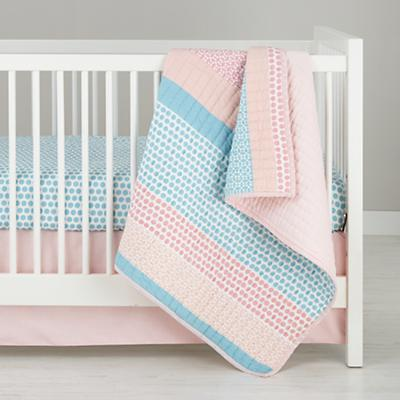 Patterned Print Crib Sheet (Blue Dot)