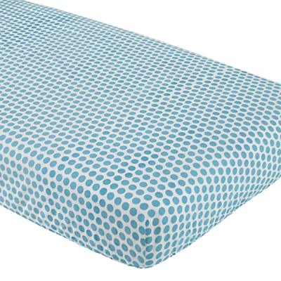Patterned Print Fitted Crib Sheet (Blue Dot)