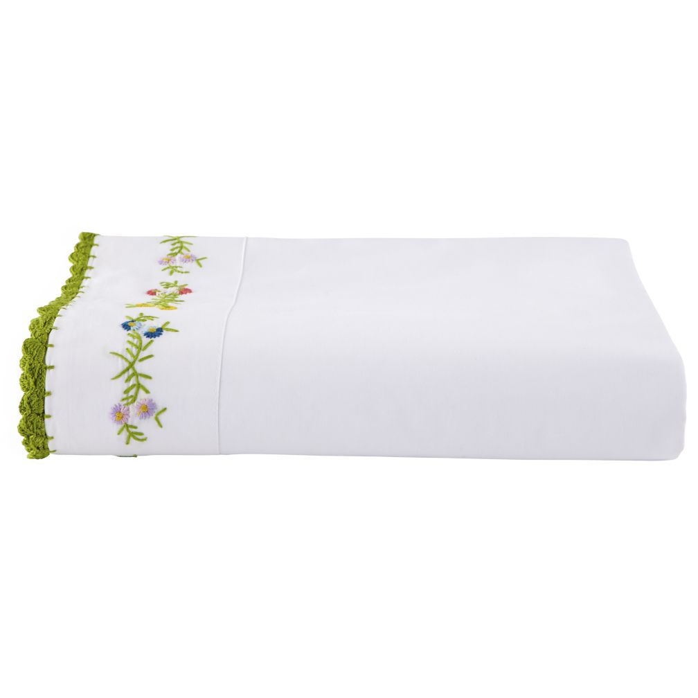 Petit Château Embroidered Flat Sheet (Twin)