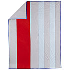 Full-Queen Solid Stripes Quilt