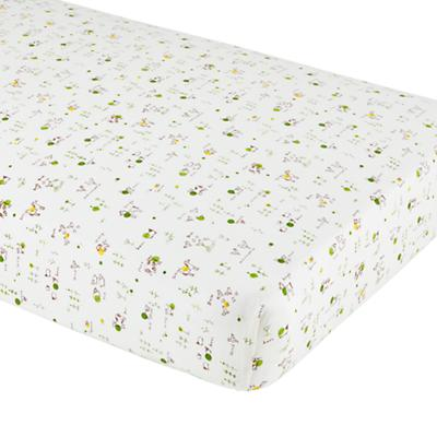 With a Moo Moo Here Crib Fitted Sheet