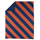 Twin Blue-Orange Dapper Duvet Cover