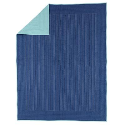 Full-Queen Deep Blue Quilt