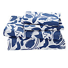 Full Deep Blue Sheet SetIncludes fitted sheet, flat sheet and two pillowcases