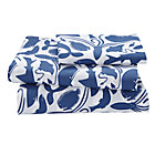 Twin Deep Blue Sheet SetIncludes fitted sheet, flat sheet and one pillowcase