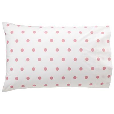 Pink Polka Dot Pillowcase