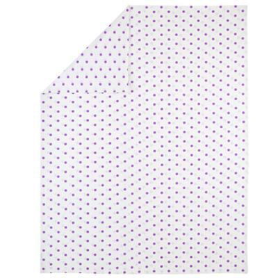 Full-Queen Polka Dot Duvet Cover (Purple)