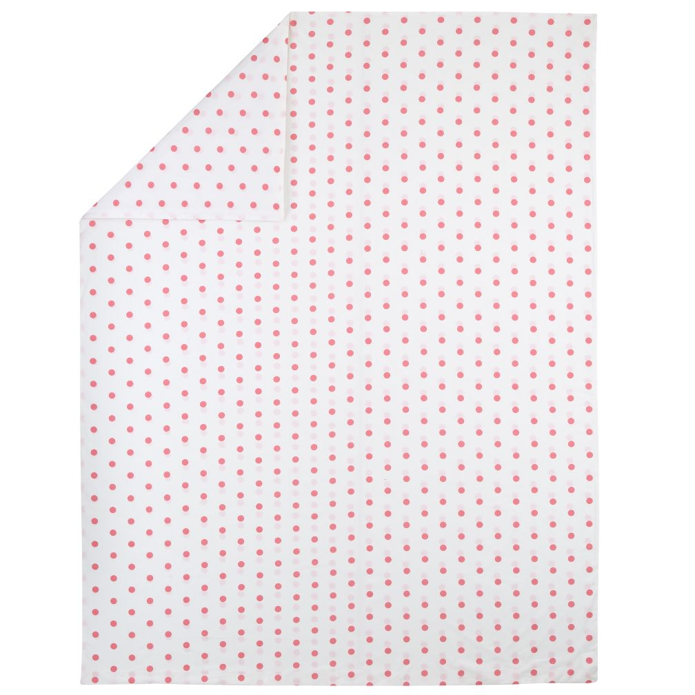 Twin Pink Polka Dot Duvet Cover