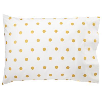 Gold Dot Pillowcase