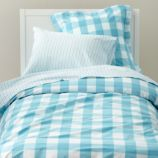 Breezy Gingham Duvet Cover (Blue)