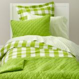 Breezy Gingham Bedding (Green)