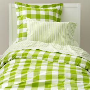 Breezy Gingham Duvet Cover (Green)